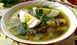 37 суп с щавелем и яйцом