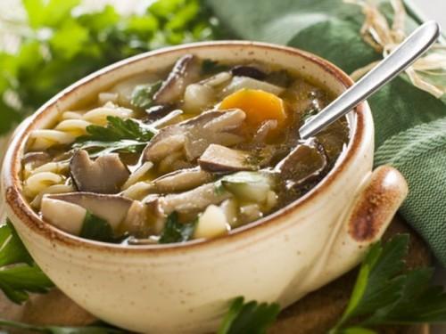 Свежий грибной суп из подберезовиков