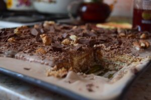 торт со сгущенкой и печеньем без выпечки