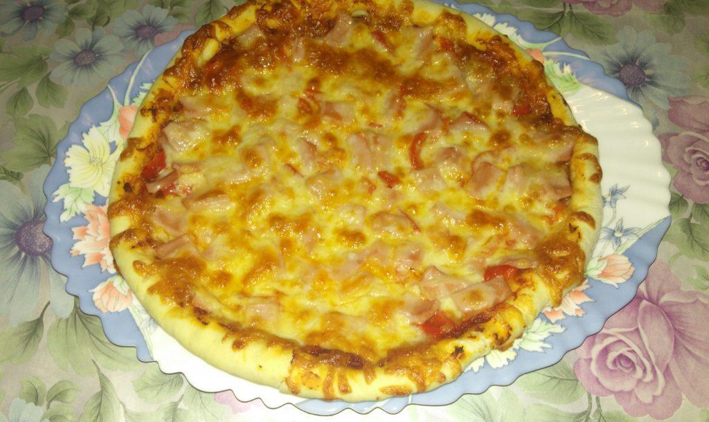 Домашняя пицца в духовке рецепт с фото