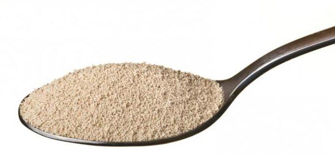 Сколько грамм сухих дрожжей в чайной ложке