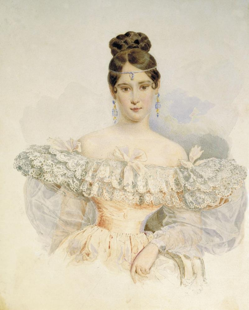 Портрет Натальи Гончаровой жены Пушкина