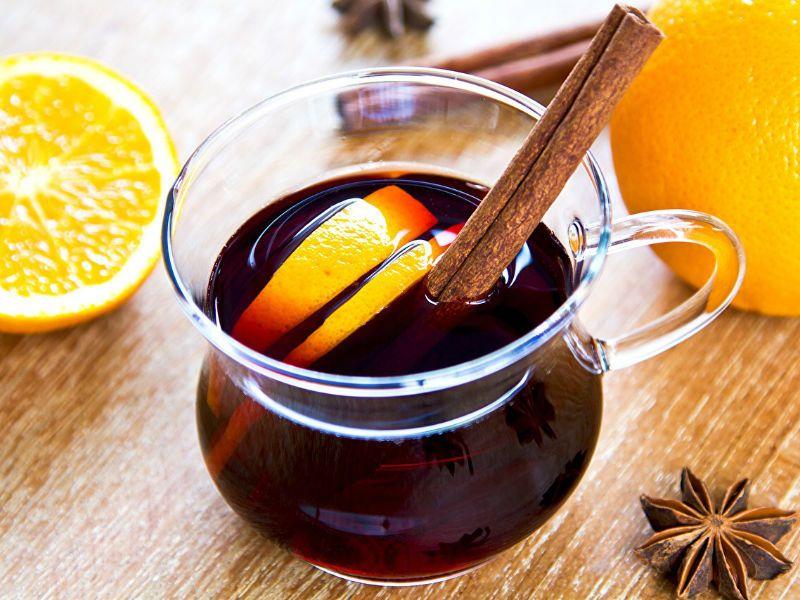 Классический глинтвейн с апельсином