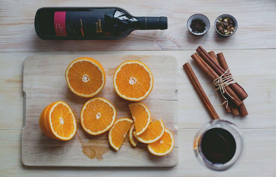 Рецепт глинтвейна классический с апельсином и корицей