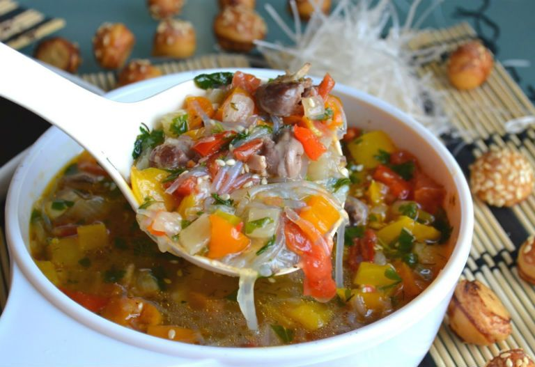 Суп с куриными сердечками рецепт