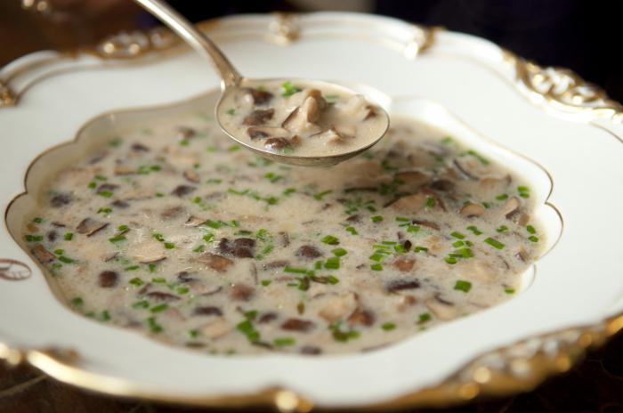 суп из подосиновиков рецепт