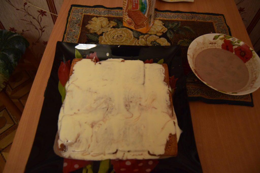 без выпечки торт из печенья со сгущенкой