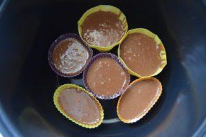 рецепт с фото пошагово шоколадных кексов в силиконовых формочках в мультиварке