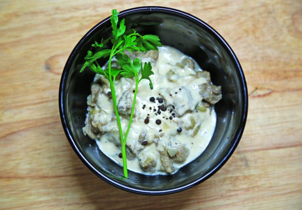 рецепт грибы в сливочном соусе с фото