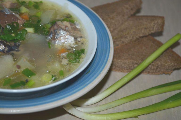 Суп рыбный из консервов рецепт с фото