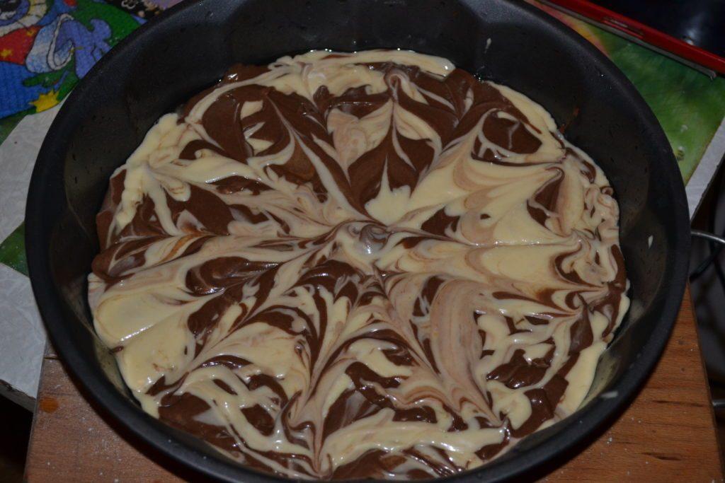 пошаговый рецепт торта зебра с фото