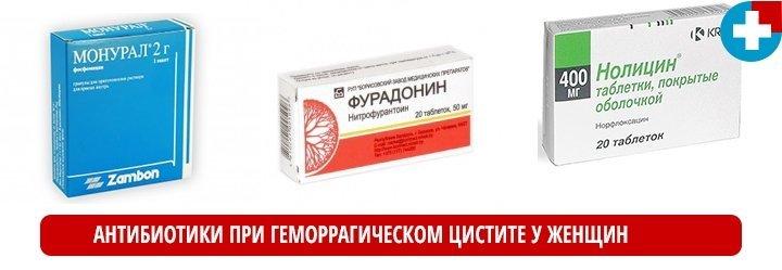 Лечение цистита у женщин препараты список