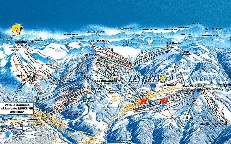 Les Gets франция горнолыжный курорт