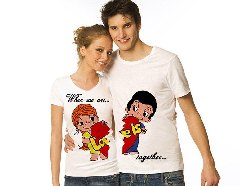 Идеи подарков на день святого Валентина: парные футболки
