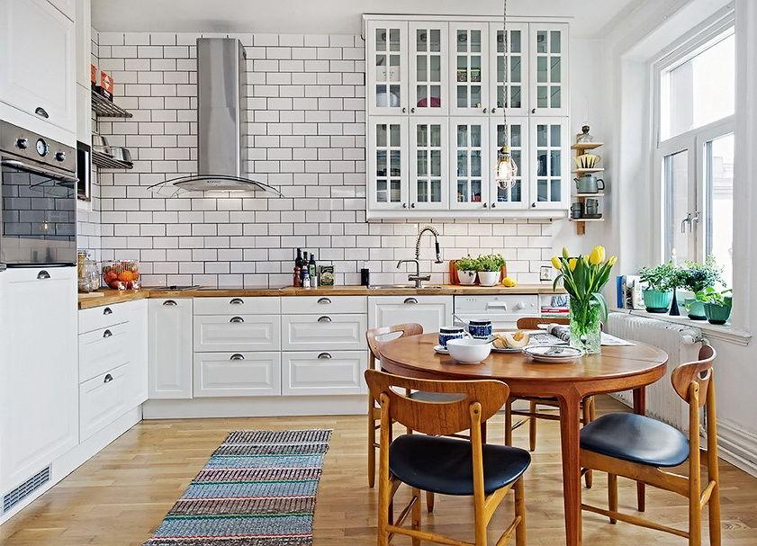 Белые кухни фото в скандинавском стиле