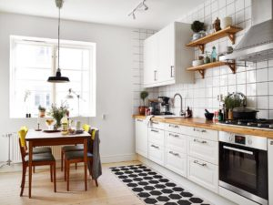 Кухни в скандинавском стиле в интерьере фото