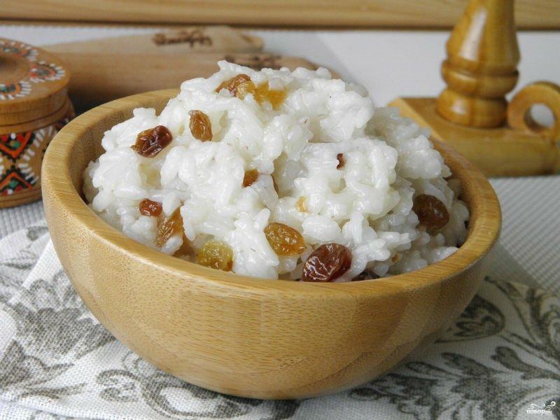 Молочная рисовая каша как варить на плите рецепты с изюмом