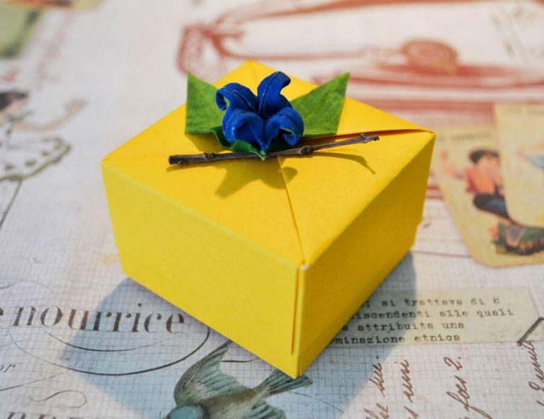 Как сделать коробку для подарка без клея и ножниц видео